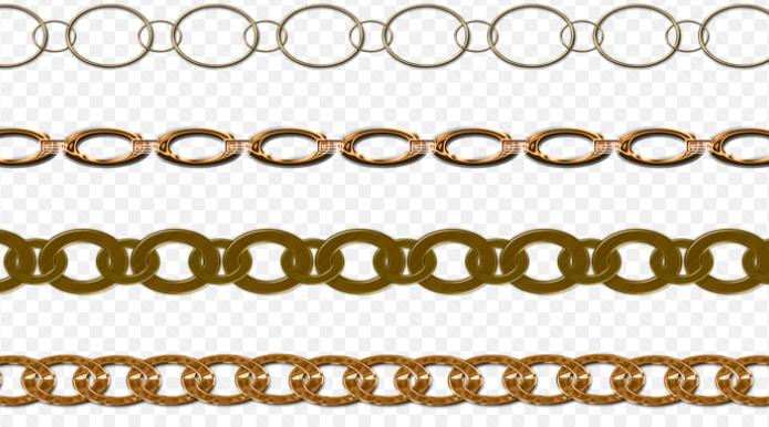 Les différents types de chaînes en or
